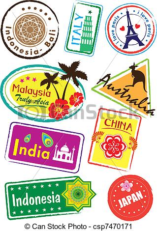 Country clipart sticker  Clipart sticker country of