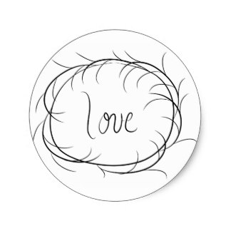 Country clipart sticker Cute round classic Country sticker
