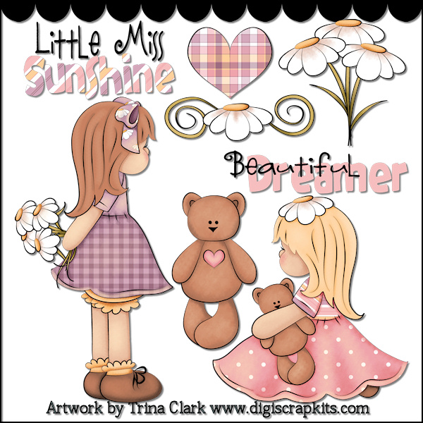 Doll clipart country Bears Miss Art Valentine by