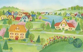 Country clipart village scene Images Art Clipart Clipart Free