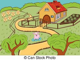 Countyside clipart village school Countryside  cartoon 28 countryside