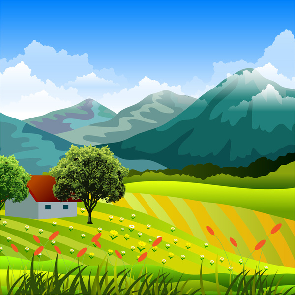 Countyside clipart rural town Vector free svg have illustration
