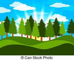 Countyside clipart rural town Spring on of  Tree