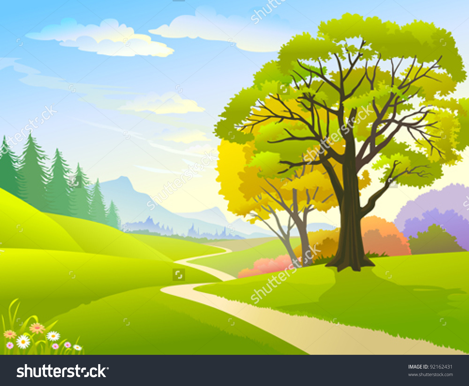 Countyside clipart gravel road Countryside Countryside Download clipart clipart