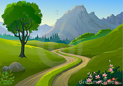 Countyside clipart gravel road SUMMER Collection Clipart countryside and