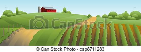 Countyside clipart agriculture farming Illustration Landscape of Illustration