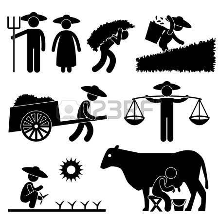 Countyside clipart agriculture farming Sign Countryside Farmer Pictogram Agriculture