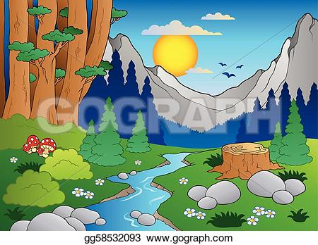 Countyside clipart animated  forest forest 2 Vector