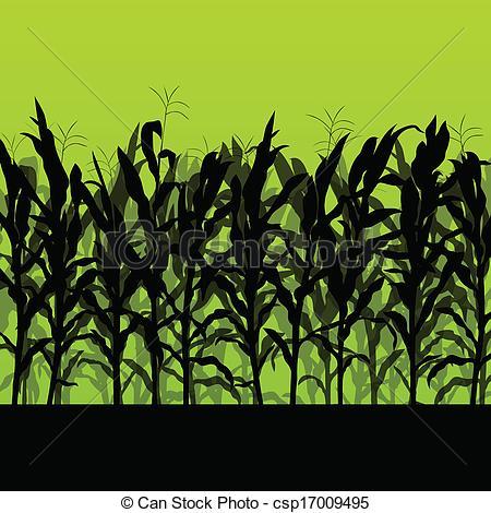 Cornfield clipart corn farm Illustration field field Corn landscape