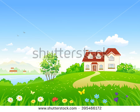 Country clipart garden background And country of Vector illustration