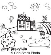Countryside clipart Of Graphics and vector Clipart