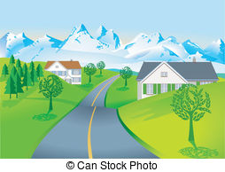 Road clipart country road #9