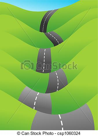 Countyside clipart country road Drawing  of road going