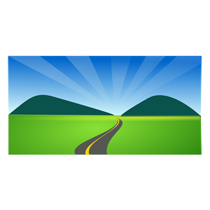 Countyside clipart country road (wmf country drive agricluture side