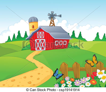 Illustration Clip Farm Vector csp19141914