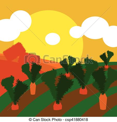 Feilds clipart countryside Fresh cultivated illustration background fields