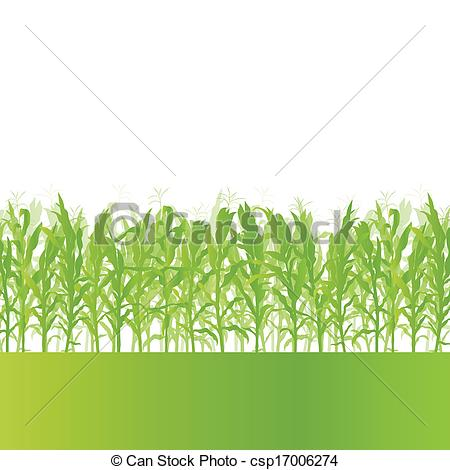 Countyside clipart fields Background Corn detailed csp17006274 vector