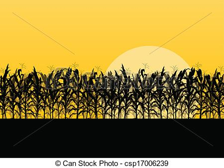 Drawn grain wheat crop Landscape vector detailed Vectors countryside