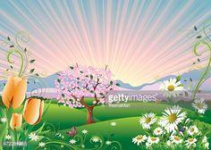 Countyside clipart garden background 1 : Landscape&Background ClipartGarden ·