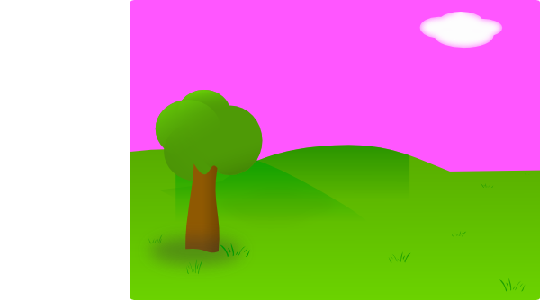 Countyside clipart garden background Com image vector Clip Background