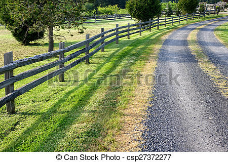 Countyside clipart gravel road Country in nice day on