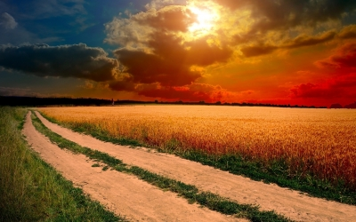 Countyside clipart gravel road Dirt wallpaper Sunset  Road