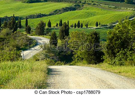 Countyside clipart gravel road In royalty Stock  Photo