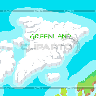 Countyside clipart green land Country infographic concept Greenland Atlantic