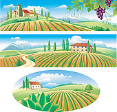 Countyside clipart kapatagan Free Green Banners Art the
