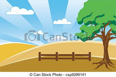 Country clipart landscape Illustration Landscape Country Vector with
