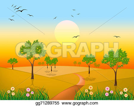 Countyside clipart meadow  meadows meaning Illustration countryside