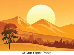 Countyside clipart mountain scenery  of and Landscape Clip