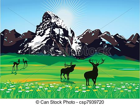 Countyside clipart mountain scenery Drawings #11 Download Download Scenic