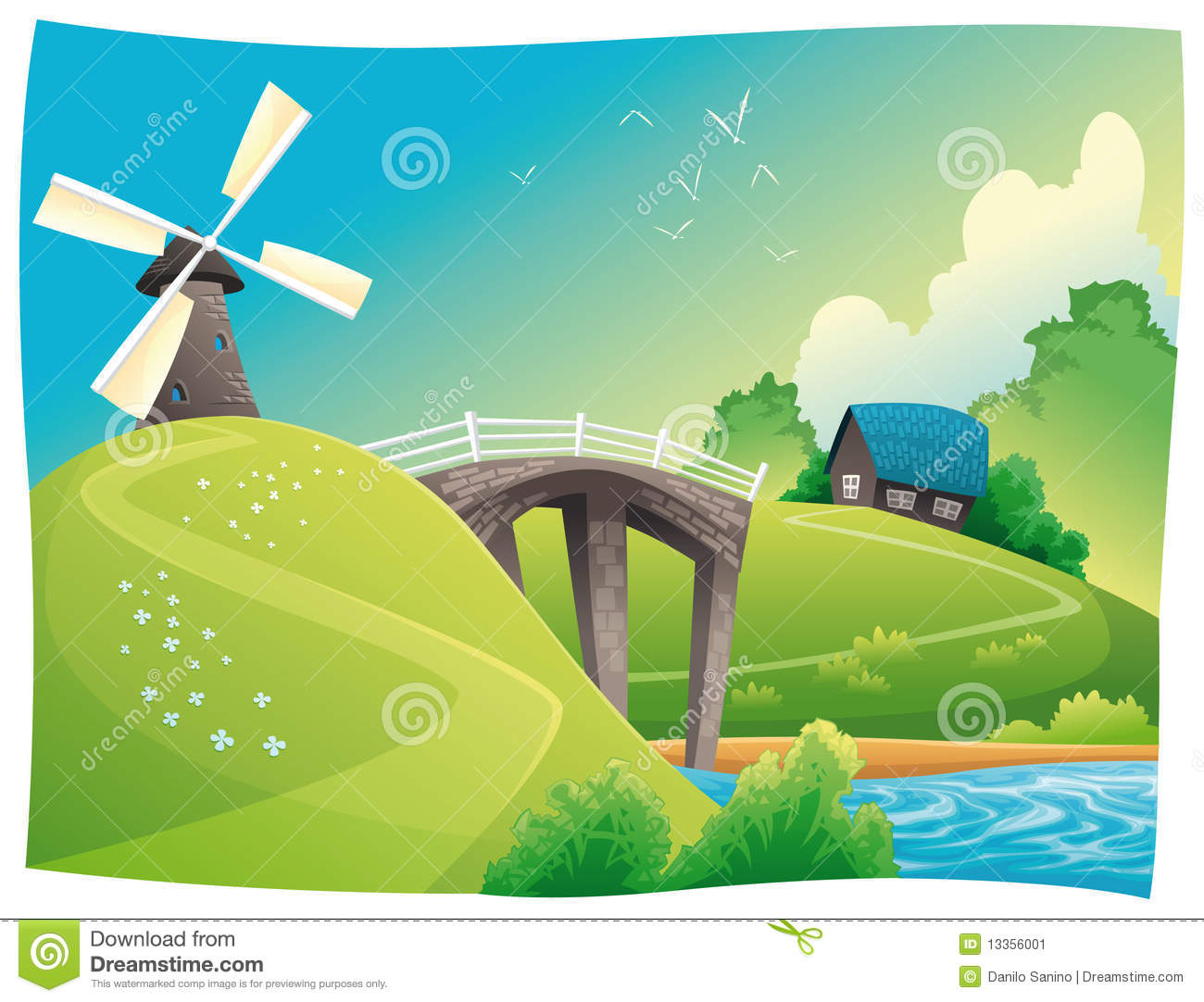 Countyside clipart nature cartoon Download Countryside clipart Countryside drawings
