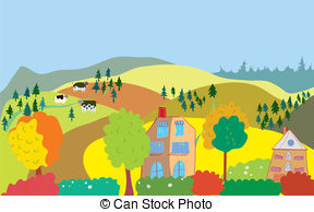 Countyside clipart outdoor scene Clipart Clipart and landscapes Country