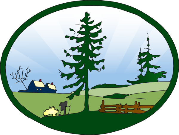 Countyside clipart park scene At com art as: this