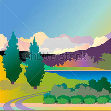 Countyside clipart scenery #5