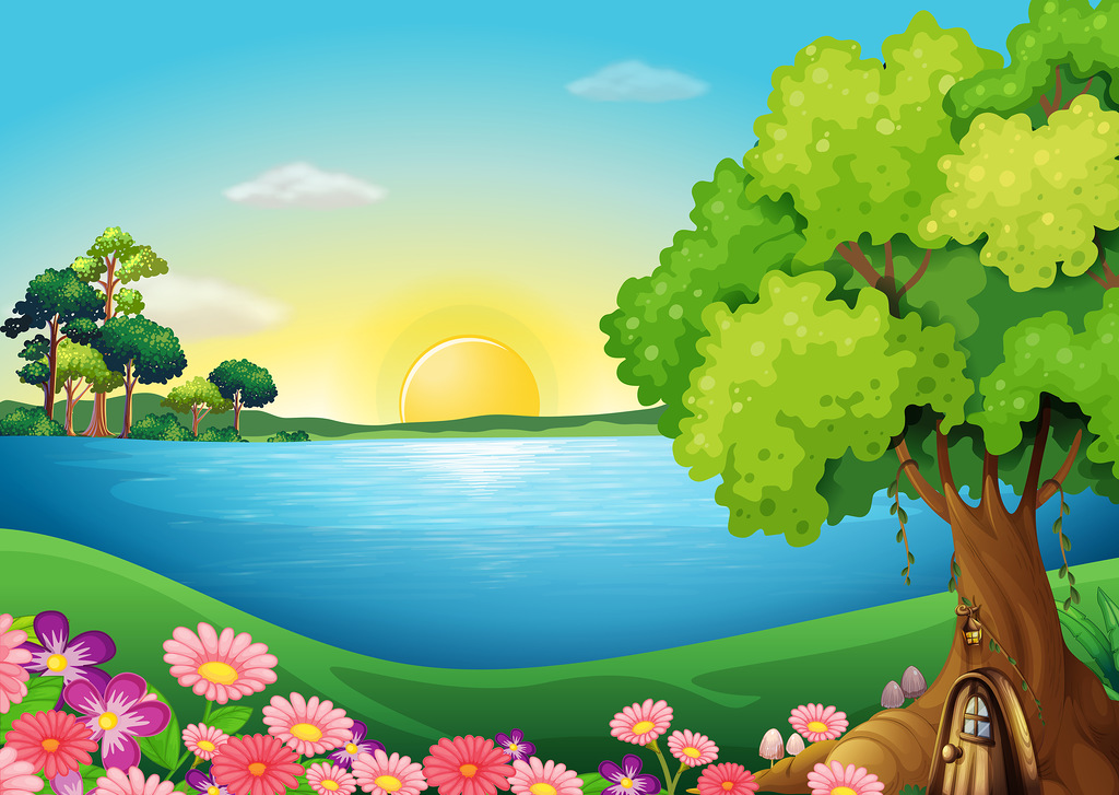 Countyside clipart summer scenery Best on Фотки Landscape ideas