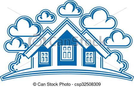 Countyside clipart village house Detailed Graphic Houses image village