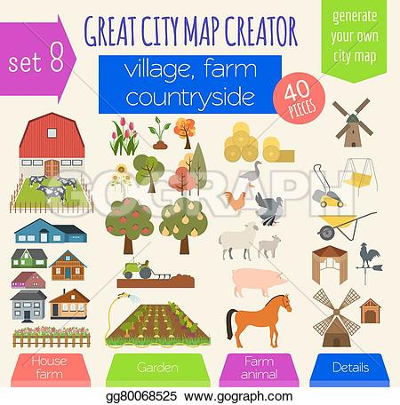 Countyside clipart village house Make house Vector cafe Art