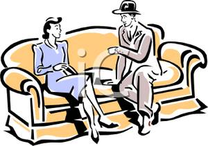 Couple clipart couch Drinking of  Cartoon Style