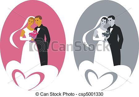 Couple clipart pink 101 Art Clip – Wedding