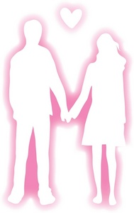 Couple clipart pink Couple Holding a Clipart Hands