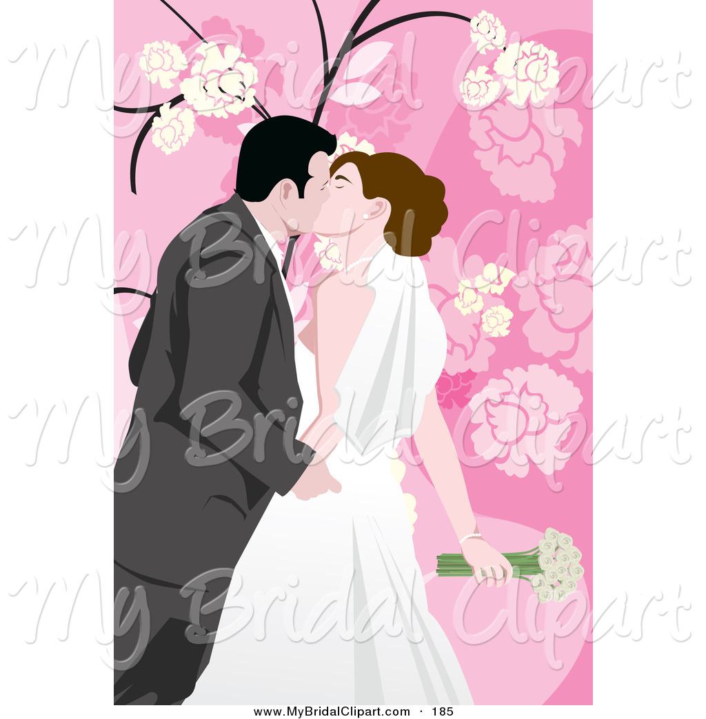 Couple clipart pink Pink on a Loving Background