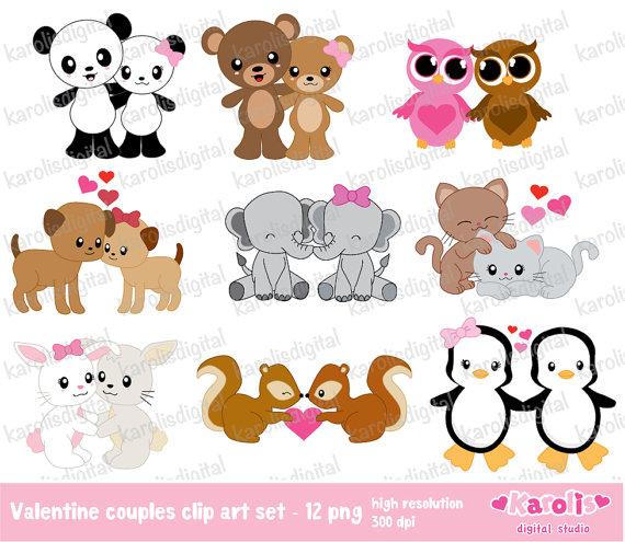 Animal clipart valentine Clipart Cute Couple Clip Valentine