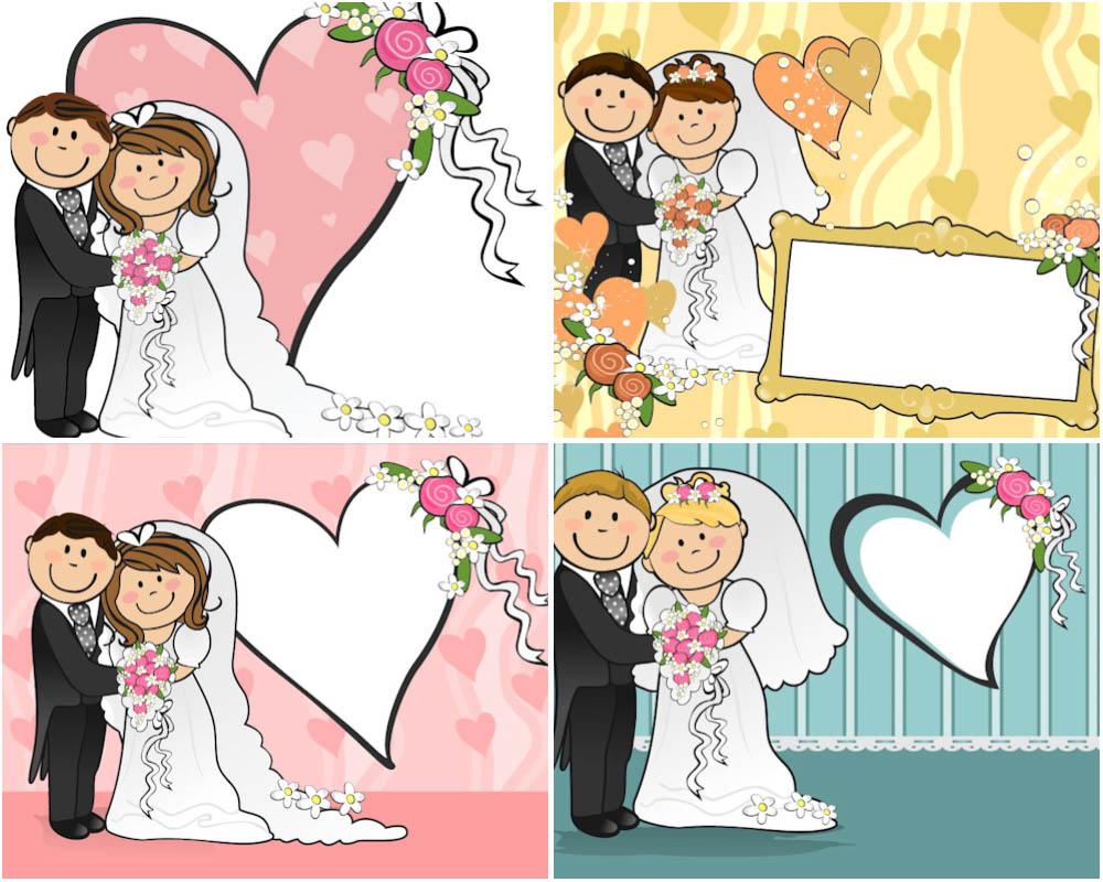 Couple clipart wedding vector Vector Wedding Cartoon Wedding vector
