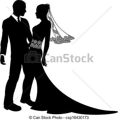 Couple clipart wedding vector Of silhouette silhouette groom couple