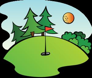 Course clipart Vector Golf Course Art Art