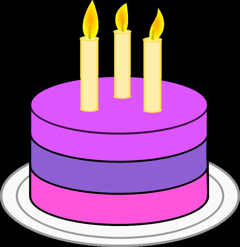 Simple clipart birthday cake #1