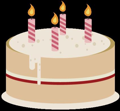 Simple clipart birthday cake #8